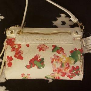NWT Liz Claiborne Floral Crossbody Bag